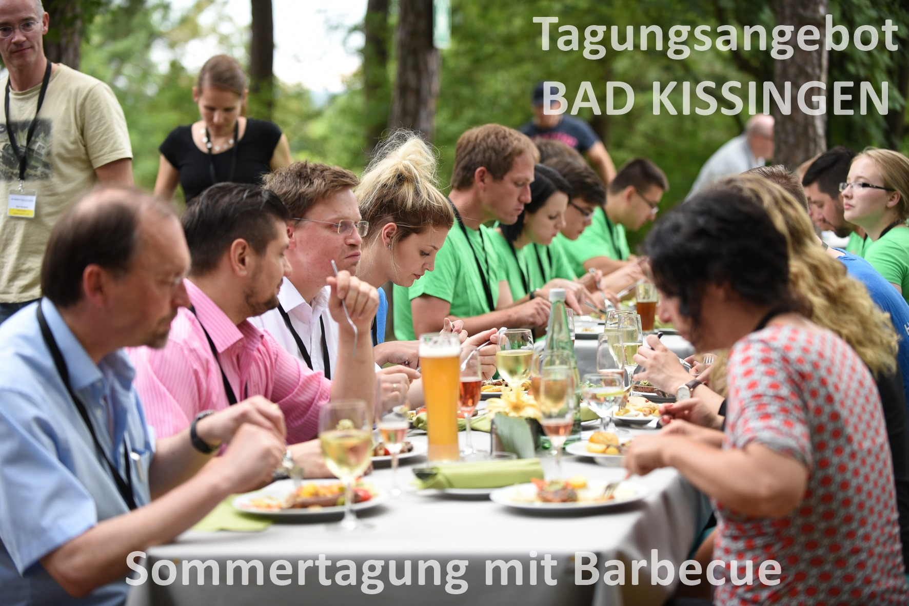 Barbecue bei einer Tagung in Bad Kissingen