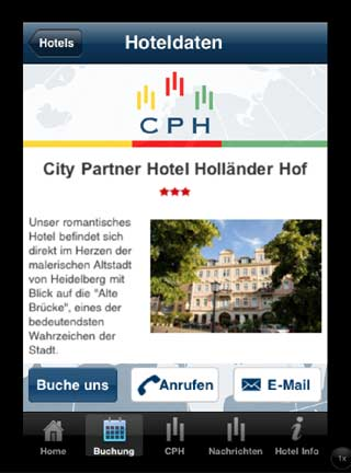 CPH Hotels iPhone iPad App Hotel Informationen