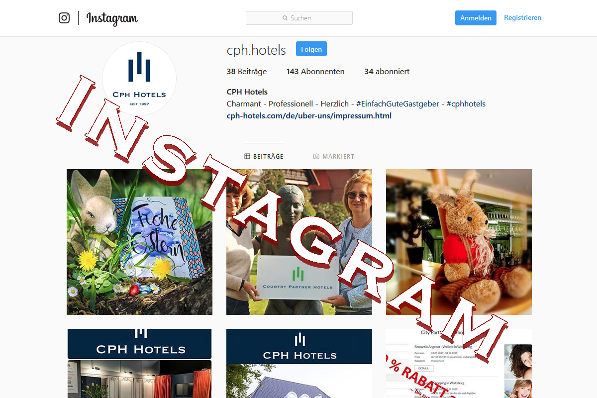 Instagram CPH Hotels Social Media