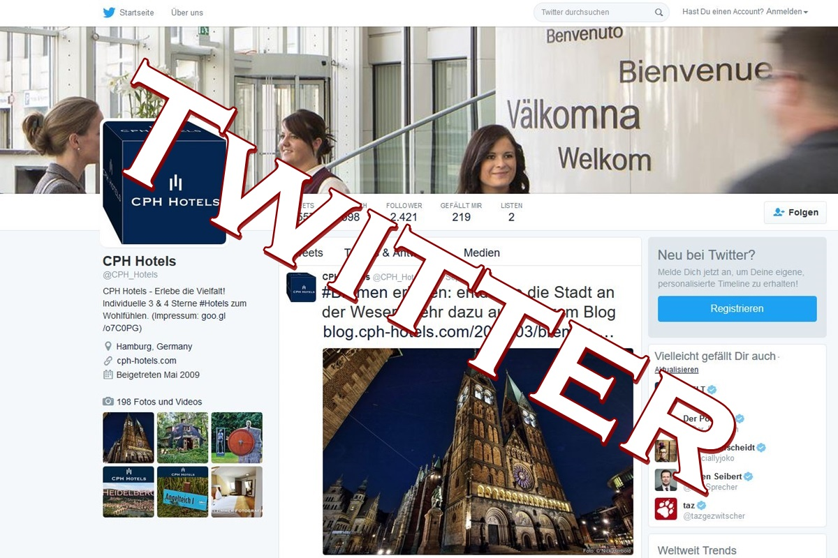 CPH Hotels, Twitter, Social Media, Web 2.0